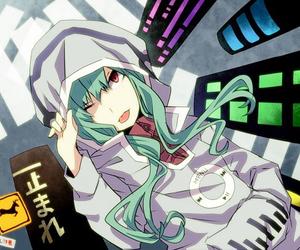 anime, green, and kawaii image
