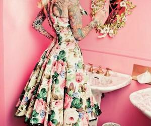 tattoo, Pin Up, and dress image
