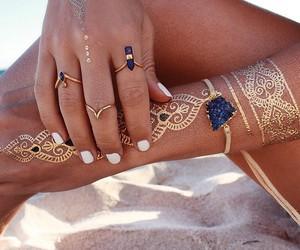 beach, jewelery, and boho image