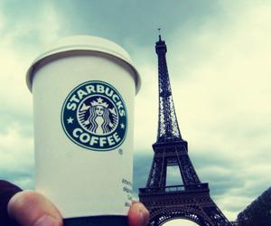 starbucks, paris, and coffee image