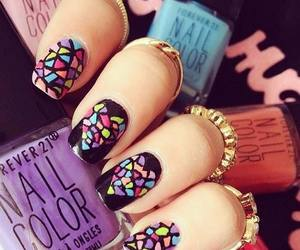 nails, colors, and heart image