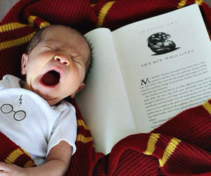baby, book, and harry potter image