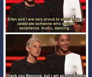 funny, ellen, and beyoncé image