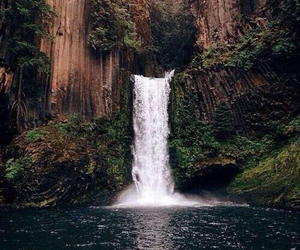waterfall, nature, and water image