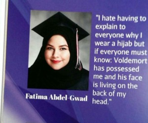 hijab, voldemort, and harry potter image