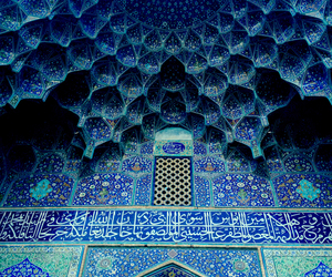 blue, architecture, and art image