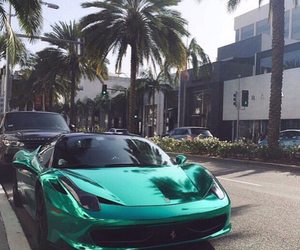 car, luxury, and green image