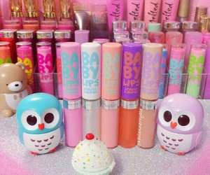 makeup, beauty, and babylips image
