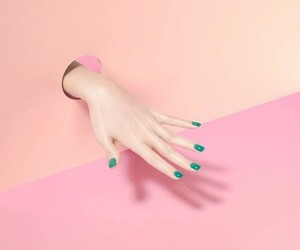 pink, aesthetic, and hand image