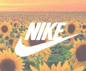 nike, flowers, and sunflower image