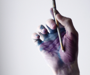 art, hand, and aesthetic image