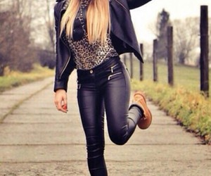 outfit, timberland, and black image