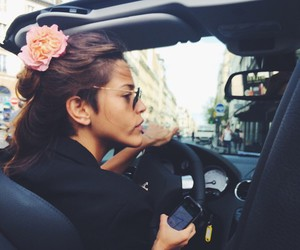 flower crown, paris, and girl image