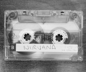 nirvana, cassette, and music image