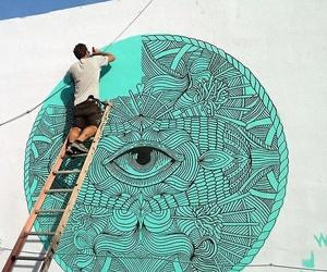 art, eye, and boy image