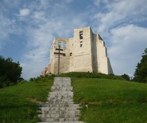 polska, zamek na górze, and chmury i niebo image