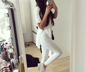 white, style, and outfit image
