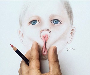 drawing, baby, and art image