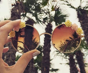 boho, hipster, and palms image
