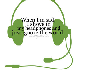 headphones, music, and sad image