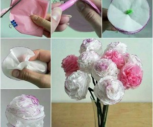 diy, flores, and papel image
