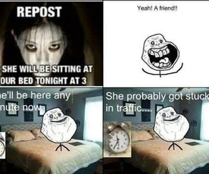 funny, lol, and forever alone image