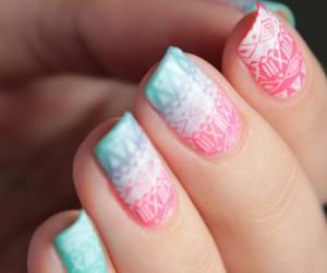 hand, pink, and nails image