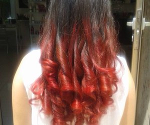 curls, curly, and highlights image