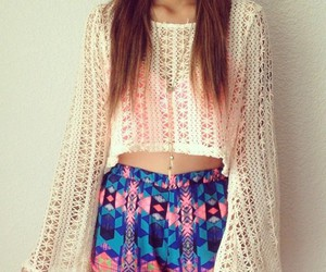brunette, cut, and outfit image