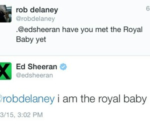 ed sheeran and royal baby image