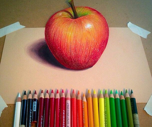 apple, art, and 3d image