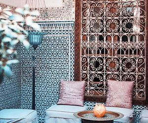 morocco, house, and interior image