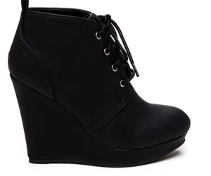 black, shoes, and wedges image