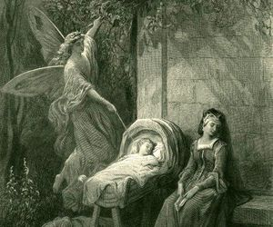drawing, fairy, and sleeping image