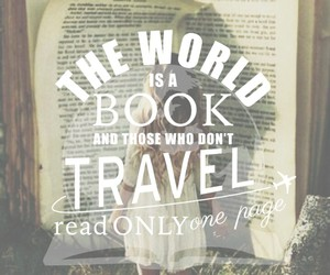 travel, book, and wallpaper image