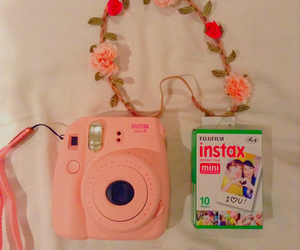 camera, film, and pink image