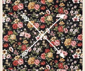 arrow, floral, and wallpaper image