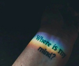 rainbow, tattoo, and mind image
