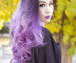 lilac, lip, and pastel image