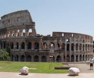 colosseum, roma, and italia image