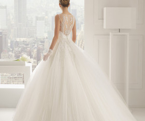 beautiful, wedding dress, and white image