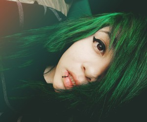 alt girl, bands, and colored hair image