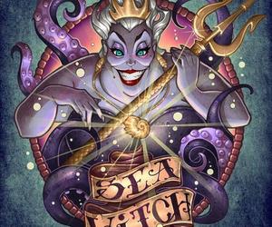 disney, ursula, and villain image