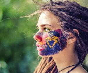 girl, dreads, and hippie image