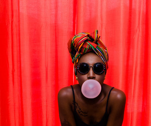bubblegum, model, and red image