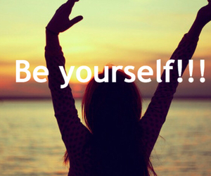 :), free, and be yourself image
