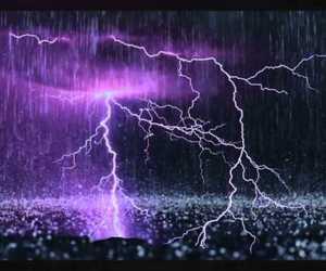 lightning, rain, and storm image