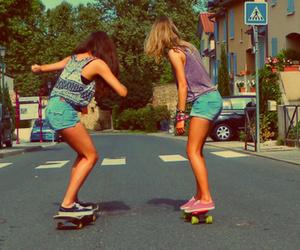 bff, skateboarding, and tumblr image