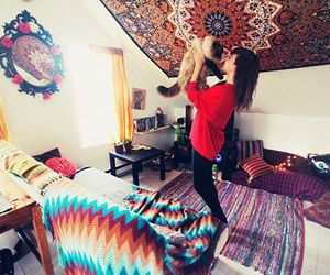 appartment, blanket, and bohemian image