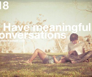 love, conversation, and heart image